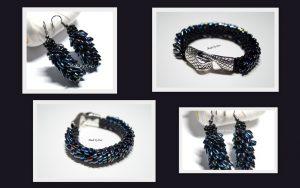 bead crochet jewelry set