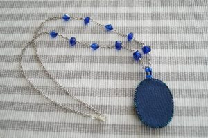 Bead embroidery pendant