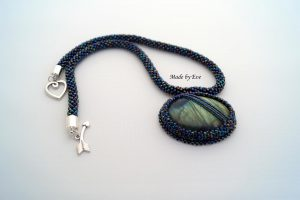 necklace with labradorite