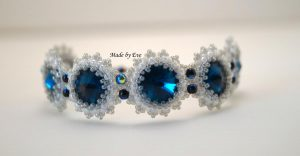 bracelet with rivoli crystals