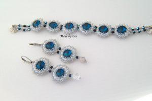 Jewelry set with rivoli crystals