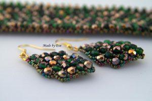 zielono -złote kolczyki Caprice