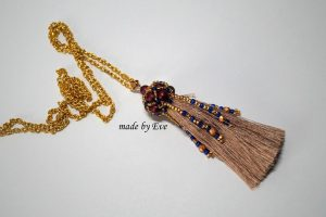 pendant with a tassel