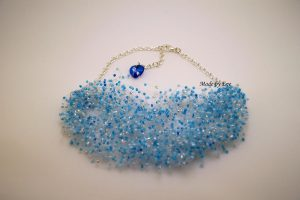 necklace like a blue mist