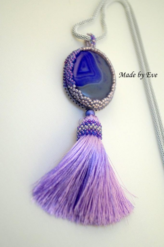 Pendant with agate
