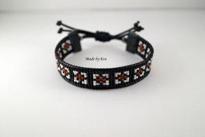 Men's bracelet on a loom