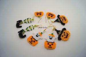 kolczyki na halloween