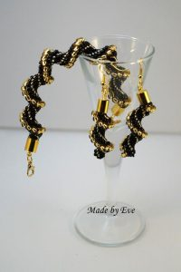 Gold and black cellini set