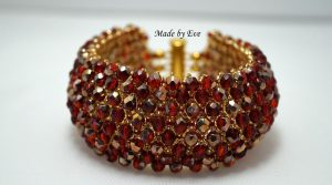 red and gold caprice bracelet