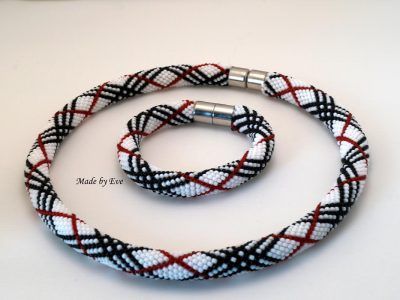 A set of burberry checkered jewelry