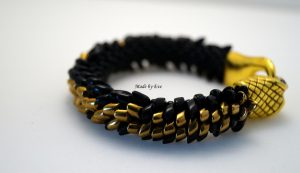 komplet czarno-złoty wąż
