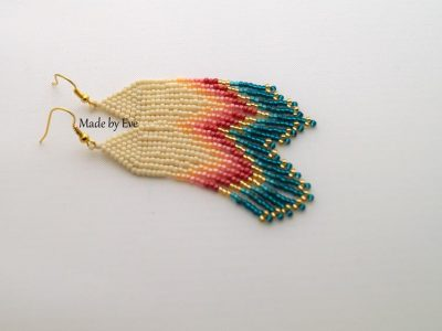 Native American style earrings  in summer colors