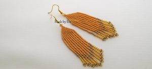 Native American style earrings  in summer colors.