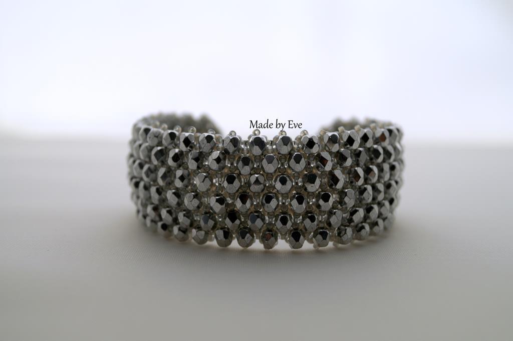 srebrna bransoletka z koralikami fire polish